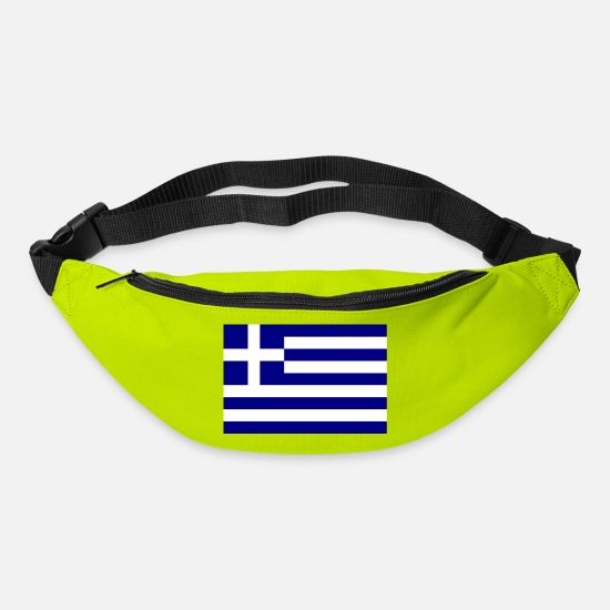 Greece Bags & Backpacks - Athens Greece Flag Flag - Bum Bag lime green