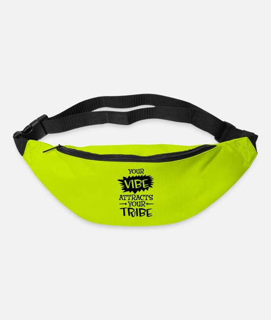 Hipster Bags & Backpacks - Your Vibe Attracts Your Tribe - Bum Bag lime green