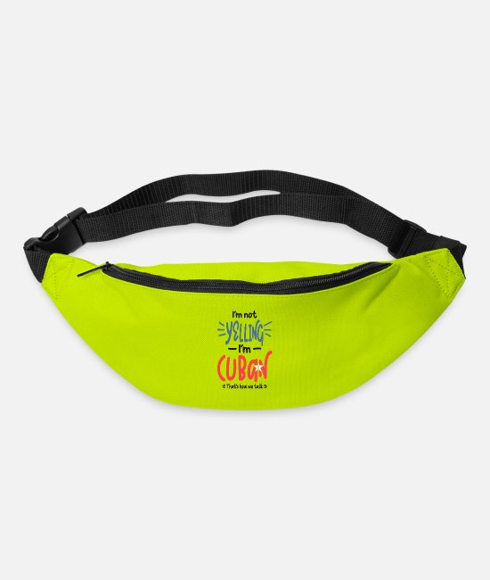Pride Bags & Backpacks - I'm Not Yelling I'm Cuban - Bum Bag lime green