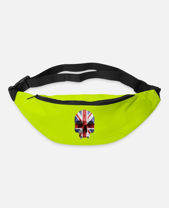 English Bags & Backpacks - English skull by dk - Bum Bag lime green