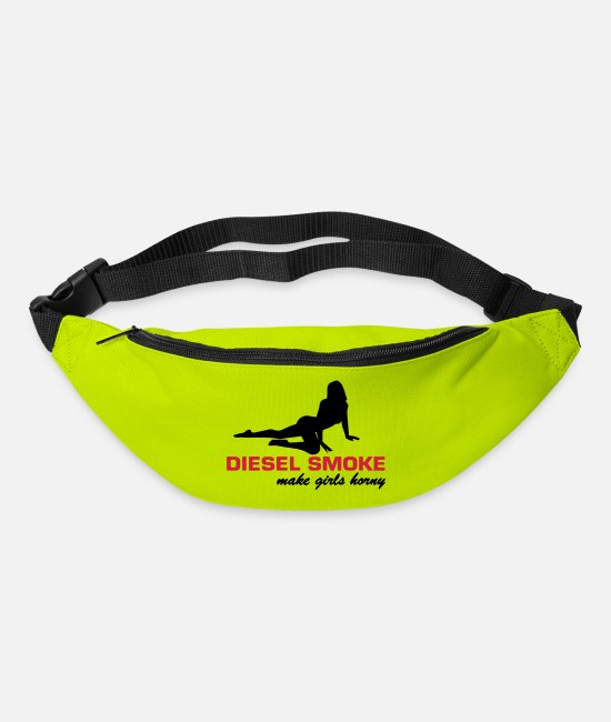 Dub Bags & Backpacks - DIESEL SMOKE MAKE HORNY - Bum Bag lime green