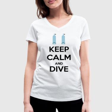 Keep calm and dive - T-shirt bio col V Stanley & Stella Femme