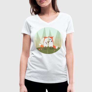 fox marriage - T-shirt ecologica da donna con scollo a V di Stanley & Stella