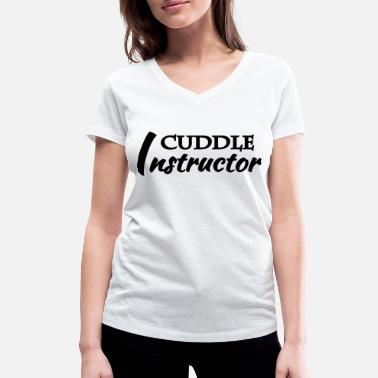 Cuddle instructor - T-shirt bio col V Femme