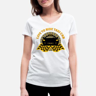 Taxi Taxichauffeur - Live to Ride Taxi - Vrouwen bio T-shirt met V-hals van Stanley & Stella