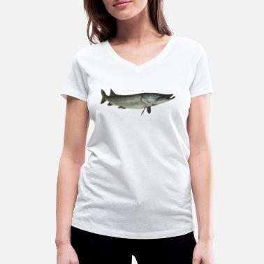 Maritime pike - Women's Organic V-Neck T-Shirt by Stanley & Stella