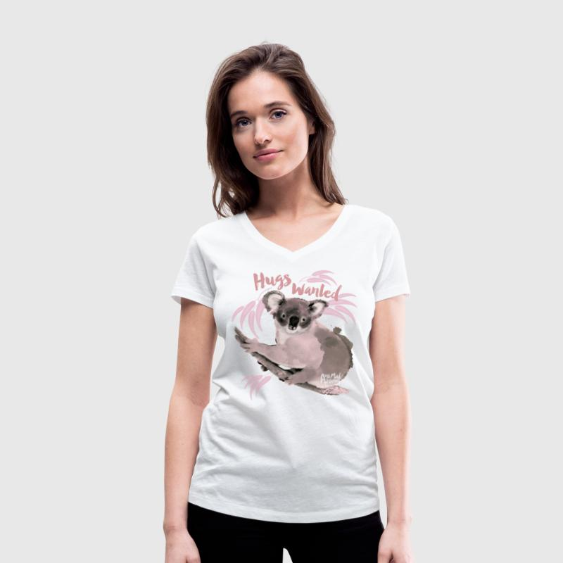 Animal Planet hugs wanted - Women's Organic V-Neck T-Shirt by Stanley & Stella