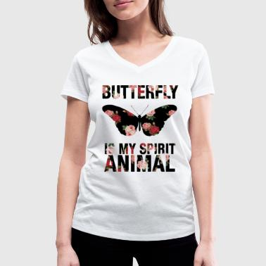 Butterfly Fish Butterfly My Spirit Animal Animal Animals Insect - Women's Organic V-Neck T-Shirt by Stanley & Stella