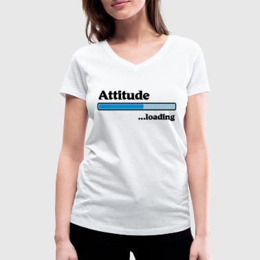 Attitude loading - Women's Organic V-Neck T-Shirt by Stanley & Stella