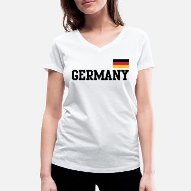 Germany Flag Germany flag - Germany Germany flag flag - Women's Organic V-Neck T-Shirt