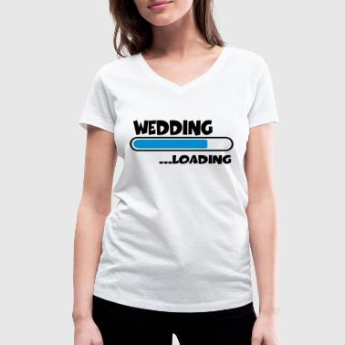 Wedding loading - Women's Organic V-Neck T-Shirt by Stanley & Stella
