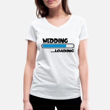 Wedding Wedding loading - Vrouwen V-hals bio T-shirt