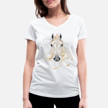 Kunstenares Love and Liberation for all Animals - Vrouwen bio T-shirt met V-hals van Stanley & Stella