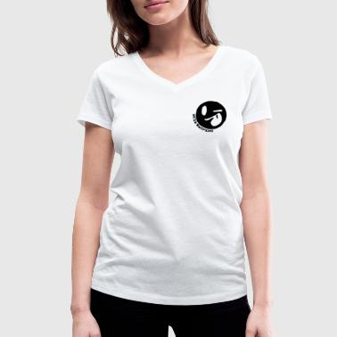 Keep Smiling - Women's Organic V-Neck T-Shirt by Stanley & Stella
