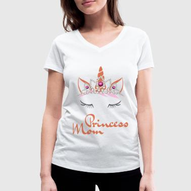 Unicorn for Mothers Birthday Princess Diadem - Women's Organic V-Neck T-Shirt by Stanley & Stella