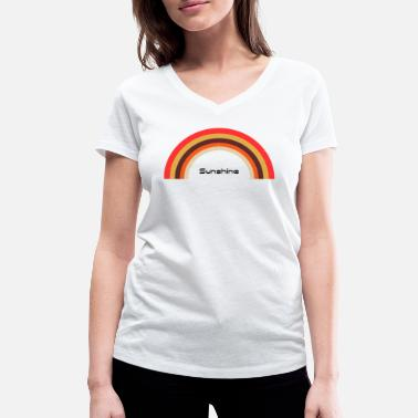 Rainbow Sunshine Sunshine Rainbow - Used look - Women's Organic V-Neck T-Shirt by Stanley & Stella