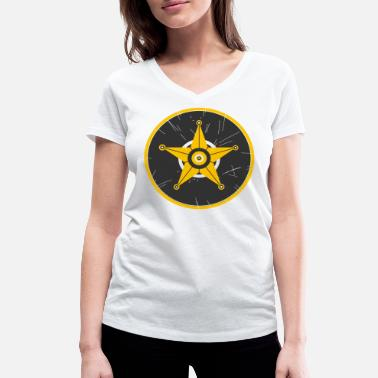 Wheels Rim Sheriff rim - Women's Organic V-Neck T-Shirt by Stanley & Stella