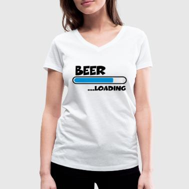 Beer Loading - Women's Organic V-Neck T-Shirt by Stanley & Stella