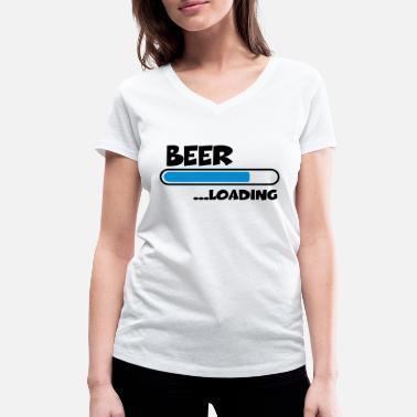 Loading Beer Beer Loading - Women's Organic V-Neck T-Shirt by Stanley & Stella