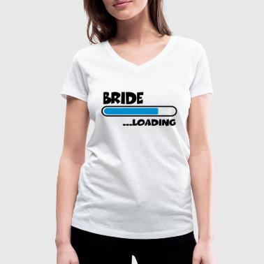 Bride loading - Women's Organic V-Neck T-Shirt by Stanley & Stella