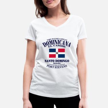 Santo Domingo Dominican Republic - Women's Organic V-Neck T-Shirt by Stanley & Stella