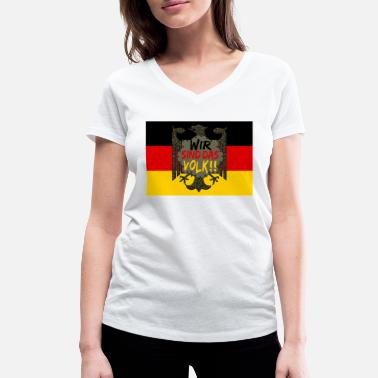 We Are The 99 Percent We are the people - Germany flag and eagle - Women's Organic V-Neck T-Shirt by Stanley & Stella