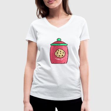 Jug Cookies jug sweet gift - Women's Organic V-Neck T-Shirt by Stanley & Stella