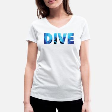 Free Diving Dive and be free - Women's Organic V-Neck T-Shirt by Stanley & Stella