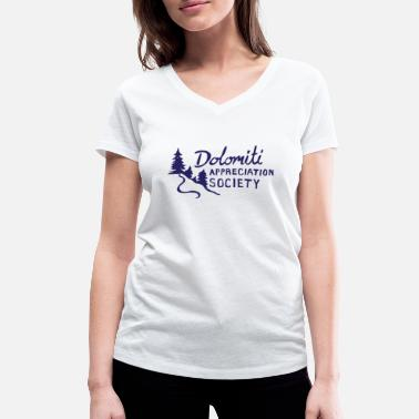 Dolomiti Dolomite Appreciation hand drawn - Women's Organic V-Neck T-Shirt by Stanley & Stella