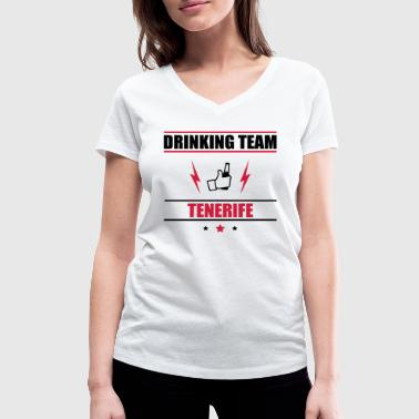 Drinking Team Tenerife - Women's Organic V-Neck T-Shirt by Stanley & Stella