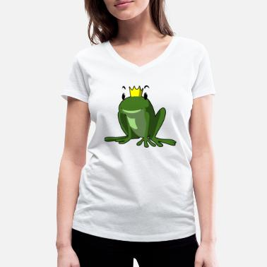 Frog King frog king - Women's Organic V-Neck T-Shirt by Stanley & Stella