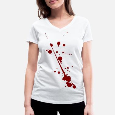 Stains Jokes Blood spots - Women's Organic V-Neck T-Shirt by Stanley & Stella