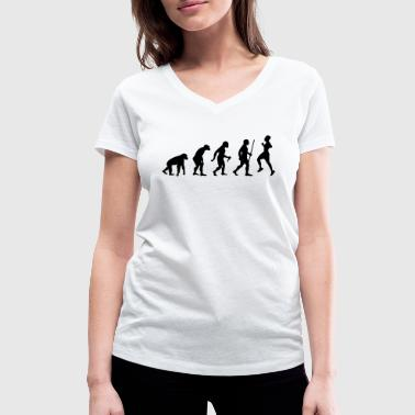 Evolution Running Evolution - Retro Running - T-shirt bio col V Stanley & Stella Femme