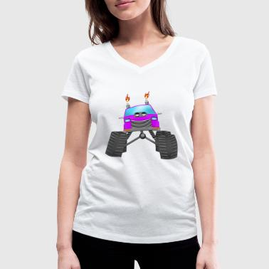 Monstertruck Monster Truck - Vrouwen bio T-shirt met V-hals van Stanley & Stella