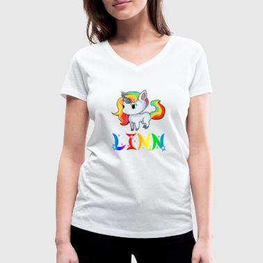 Linn Linn unicorn - Women's Organic V-Neck T-Shirt by Stanley & Stella