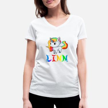 Linnea Linn unicorn - Women's Organic V-Neck T-Shirt by Stanley & Stella