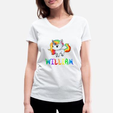 William Einhorn William - Vrouwen V-hals bio T-shirt