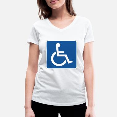 Zivi wheelchair - Women's Organic V-Neck T-Shirt by Stanley & Stella