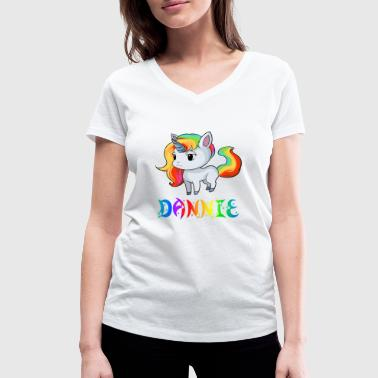 Danny Unicorn Dannie - Women's Organic V-Neck T-Shirt by Stanley & Stella
