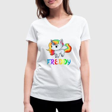 Freddy Unicorn Freddy - Women's Organic V-Neck T-Shirt by Stanley & Stella