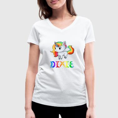 Unicorn Dixie - Women's Organic V-Neck T-Shirt by Stanley & Stella