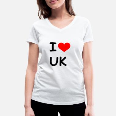 Gb Souvenir I love UK United Kingdom - Women's Organic V-Neck T-Shirt