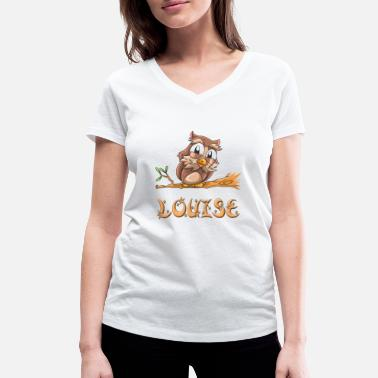 Louise Owl Louise - Women's Organic V-Neck T-Shirt by Stanley & Stella