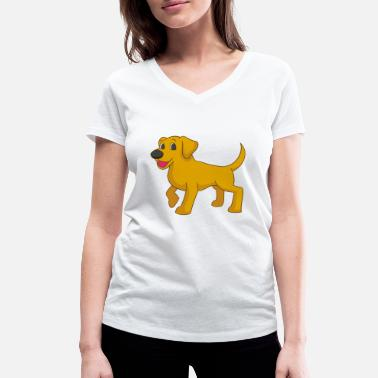 Labrador Cartoon Cartoon Labrador - Women's Organic V-Neck T-Shirt by Stanley & Stella