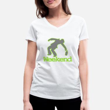 Drunk Dj Drunk at the week end - Women's Organic V-Neck T-Shirt by Stanley & Stella