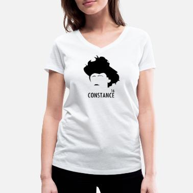 Suffragette Countess Markievicz Easter 1916 - Women's Organic V-Neck T-Shirt by Stanley & Stella