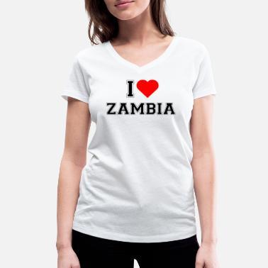 I Love Heart Zambia V-Neck T-Shirt