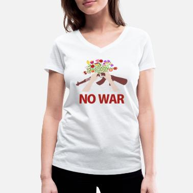 Submachine Gun NO WAR - Women's Organic V-Neck T-Shirt by Stanley & Stella