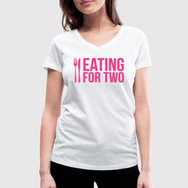 Eating for two - drinking for three - T-shirt bio col V Stanley & Stella Femme