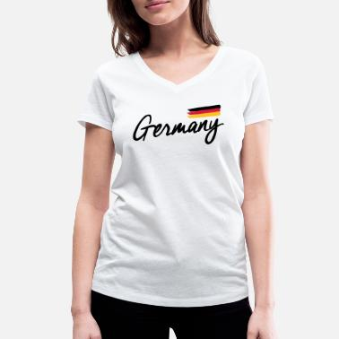 Federal Republic Of Germany Germany - Germany - Federal Republic of Germany flag - Women's Organic V-Neck T-Shirt